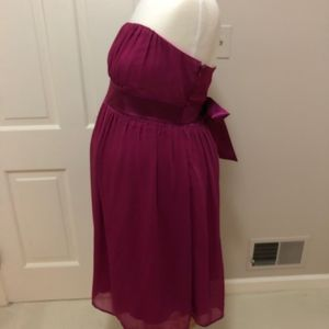 Maternite Dresses - Maternite Magenta Short Tube Dress